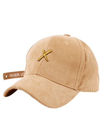 Affordable Cross Embroidered Long Tail Baseball Cap - EARTHY  Mobile