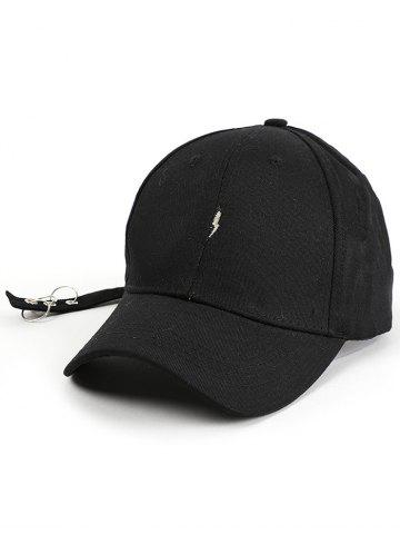 Affordable Circles Long Tail Lightning Pattern Baseball Cap BLACK
