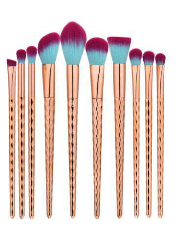 Shop 10Pcs Wave Handle Nylon Makeup Brushes Set - ROSE GOLD  Mobile