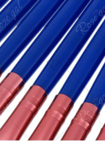Hot 15 Nylon Eye Makeup Brushes Set - BLUE  Mobile