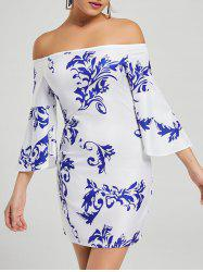 Printed Bodycon Off The Shoulder Dress
