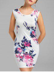 Floral Sleeveless Bodycon Dress