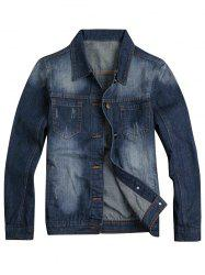 Faded Slim Fit Denim Jacket