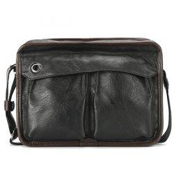 PU Leather Bordure Messenger Bag