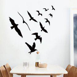 Birds Group Decorative Removable Wall Sticker - BLACK 57*67CM