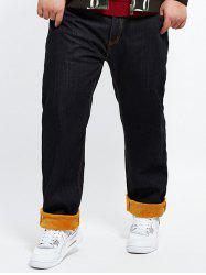 Plus Size Warm Plush Jeans
