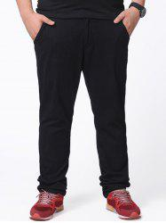 Zipper Fly Plus Size Chino Pants