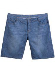 Plus Size Denim Shorts -