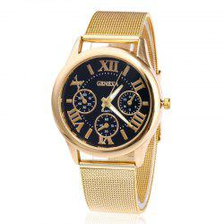 Roman Numeral Mesh Steel Strap Quartz Watch