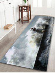 Indoor Outdoor Coral Velvet Surge Lighthouse Rug