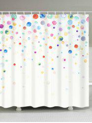 Peinture à l'encre Dotted Waterproof Fabric Shower Curtain - Coloré