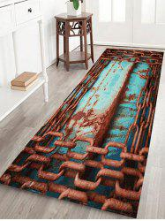 Rusty Chain Large Size Velvet Area Rug -