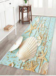 Shell Starfish Deck Pattern Anti-skid Water Absorption Area Rug - W24 Inch * L71 Inch