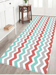 Zig-zag Pattern Anti-skid Water Absorption Area Rug