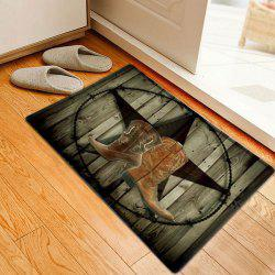 Cowboy Shoes Pattern Anti-skid Water Absorption Area Rug