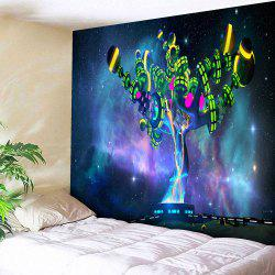 Microfibre mur suspendu Alien Magic Tree Print Tapisserie - TEXTURE D'ETOILE