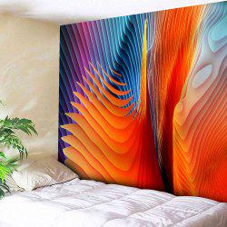 Microfiber Wall Hanging Colorful Twisted Stripe Tapestry