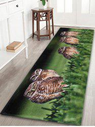 Anti Slip Owl Coral Fleece Bathroom Mat