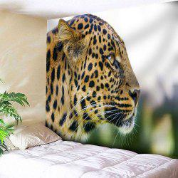 Microfiber Wall Hanging Leopard Pattern Tapestry