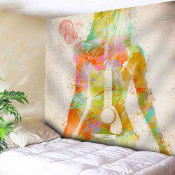 Guitar Wall Hanging Microfiber Beauty Print Tapestry