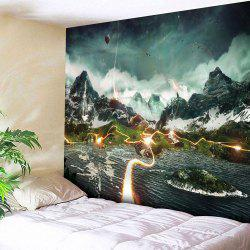 Microfibre Wall Hanging Valley Lightning Pattern Tapestry -