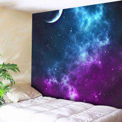 Night Sky Printed Tapestry Microfiber Wall Hanging - BLUE