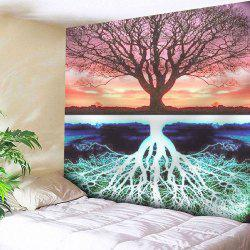 Tree Printed Tapestry Microfiber Wall Hanging