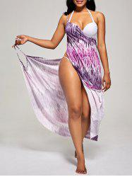 Printed Wrap Cover Up Dress
