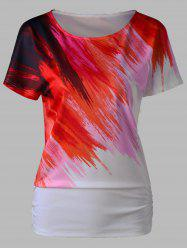 Splash Ink Print Short Sleeve T-Shirt