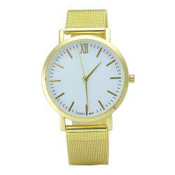 Minimalist Alloy Mesh Band Quartz Watch