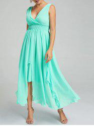 Empire Waist Chiffon Evening Dress - APPLE SLICE XL
