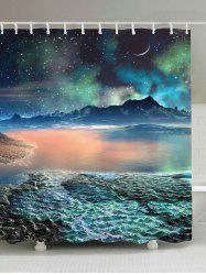Lake Star Moon Mountain Waterproof Shower Curtain - LIGHT BLUE