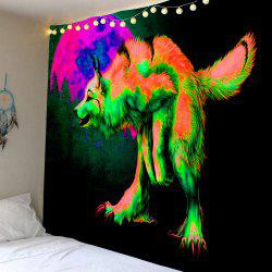 Décoration intérieure Wolf Moon Forest Print Wall Hanging Tapestry -