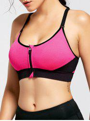 Front Zip Sports Bra with Padded