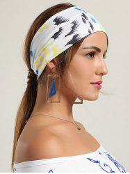 Sport Multicolor Pattern Headhand - WHITE