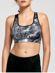 Ink Painting Padded Sports Bra