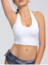Sports Crop Halter Top