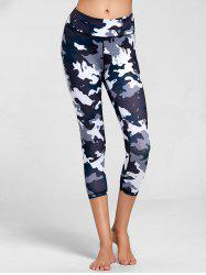High Rise Camouflage Print Fitness Leggings