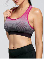 Stripe Ombre Yoga Padded  Bra
