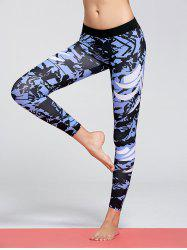 Pattern Funky Gym Tights - BLUE