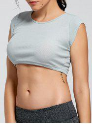 Active Ribbed Crop T-shirt