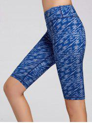Sports Tie Dye Printed Leggings -