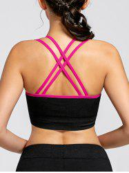 Padded Strappy  Yoga Criss Cross Bra