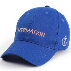 Letters Question Mark Embellished Baseball Cap - BLUE