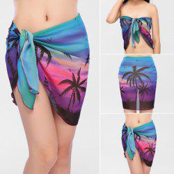 Beach Gossamer Printed Sarong Cover Up Scarf