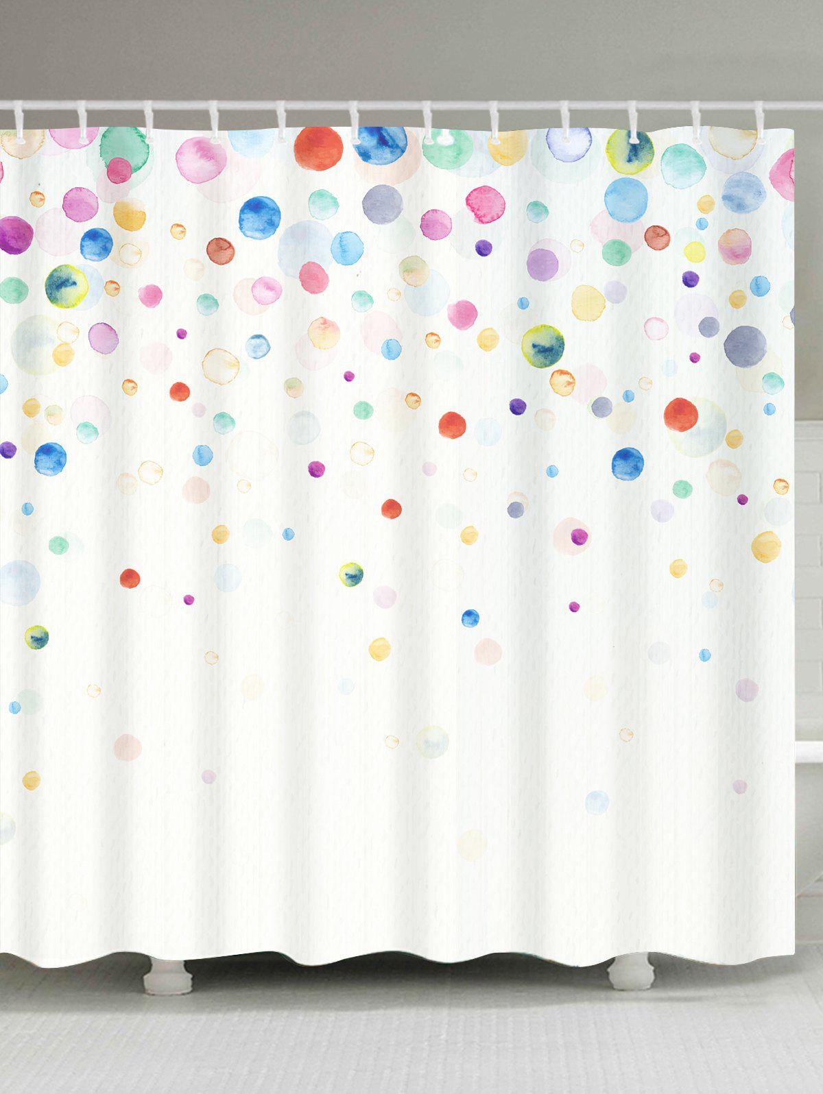 Discount Ink Painting Dotted Waterproof Fabric Shower Curtain