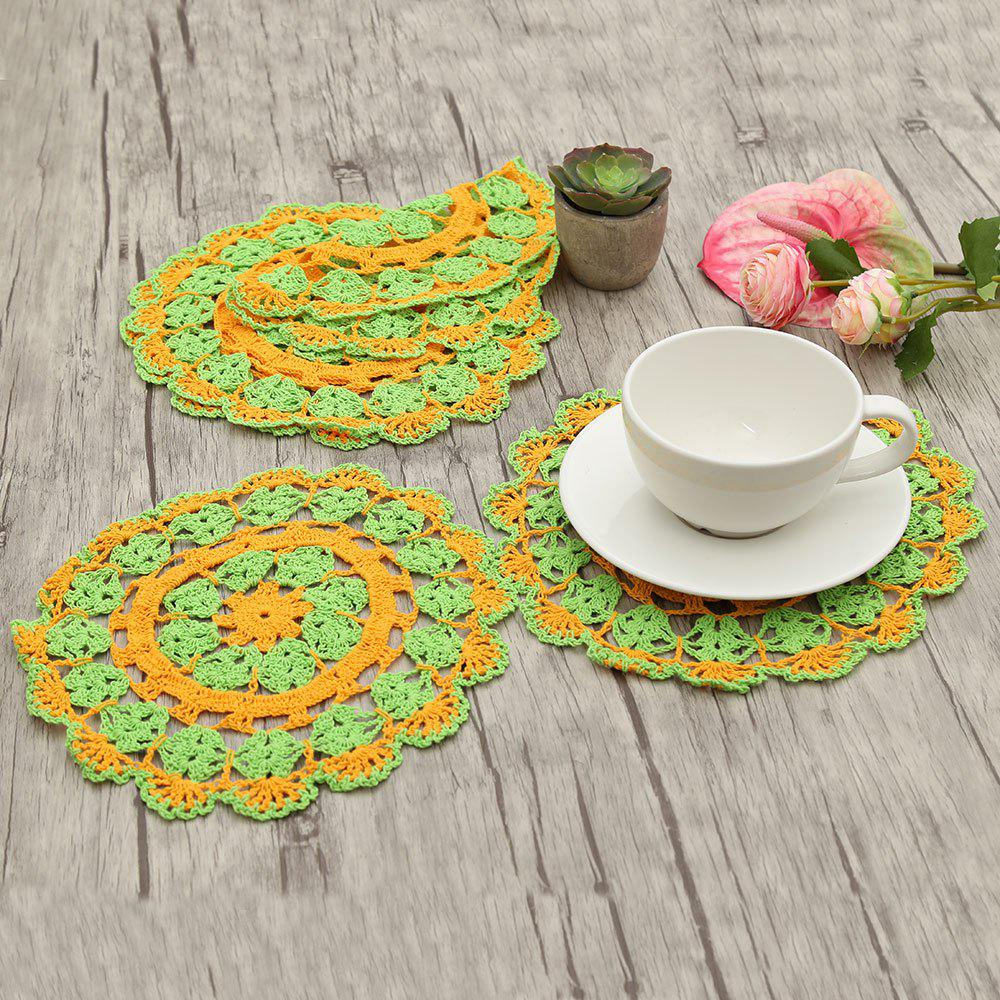 Store Round Shaped Handmade Crochet Napkins
