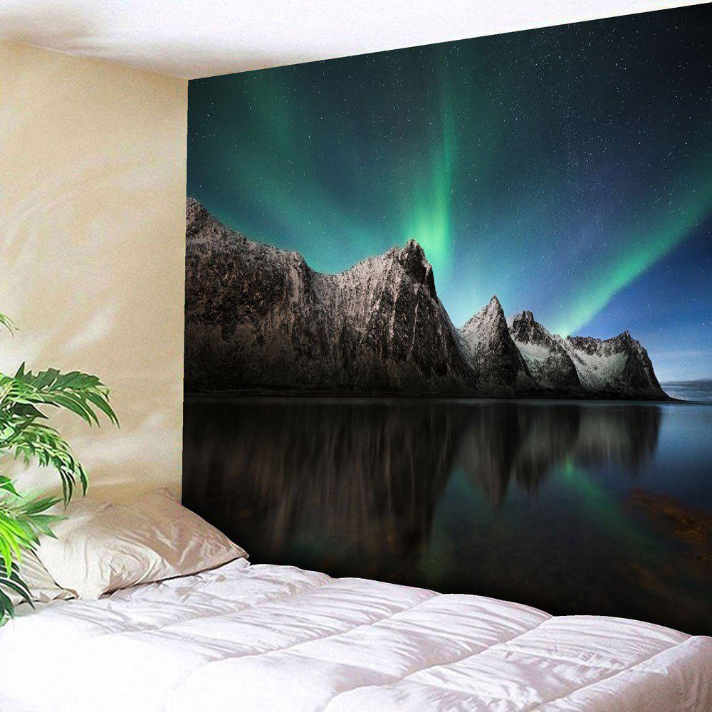 Wall Hanging Microfiber Aurora Pattern TapestryHOME<br><br>Size: W91 INCH * L71 INCH; Color: STARRY SKY PATTERN; Style: Romantic; Material: Nylon,Polyester; Feature: Removable,Washable; Shape/Pattern: Print; Weight: 0.3750kg; Package Contents: 1 x Tapestry;
