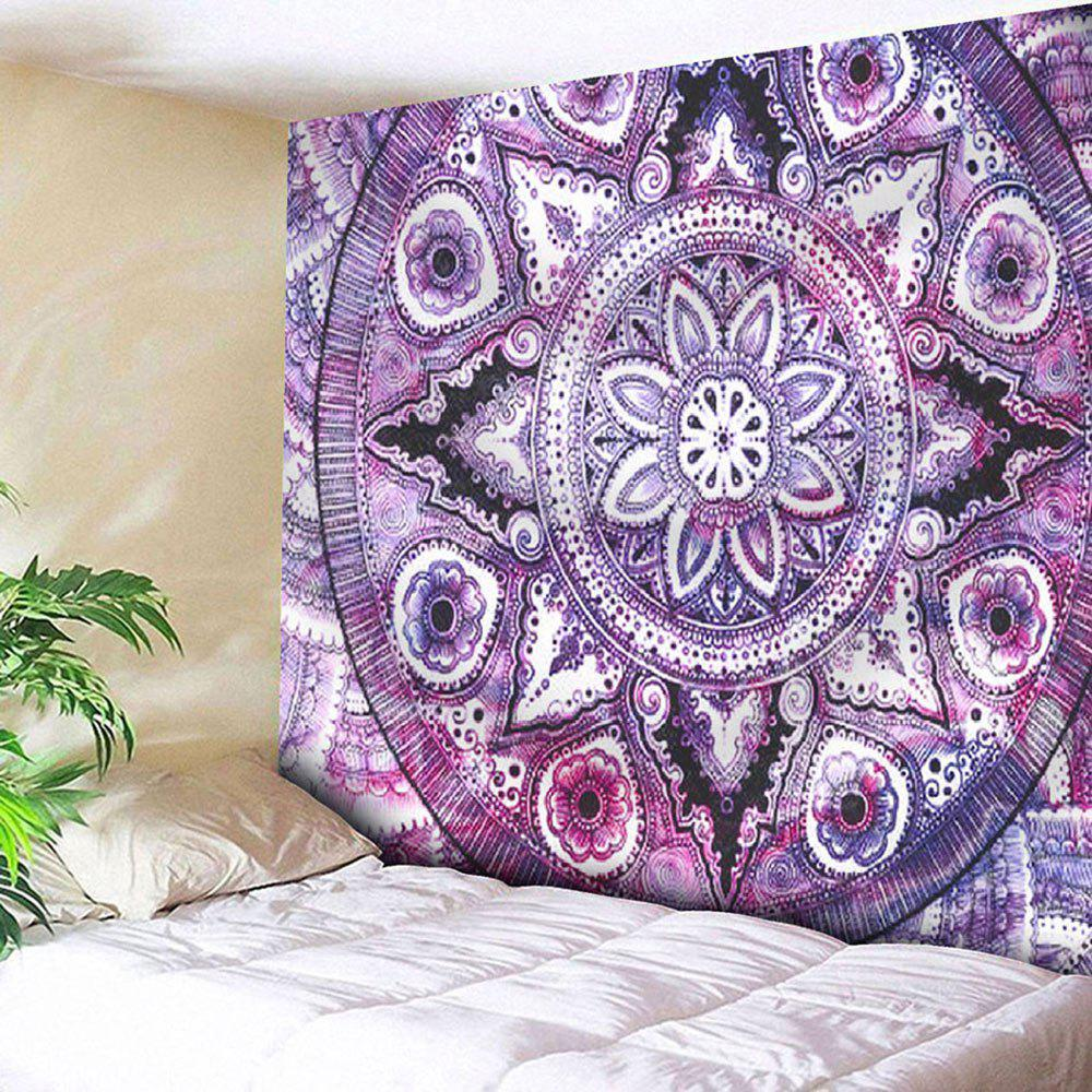 Microfiber Wall Hanging Boho Mandala Pattern TapestryHOME<br><br>Size: W59 INCH * L59 INCH; Color: PURPLE; Style: Mandala; Material: Nylon,Polyester; Feature: Removable,Washable; Shape/Pattern: Floral,Print; Weight: 0.2000kg; Package Contents: 1 x Tapestry;