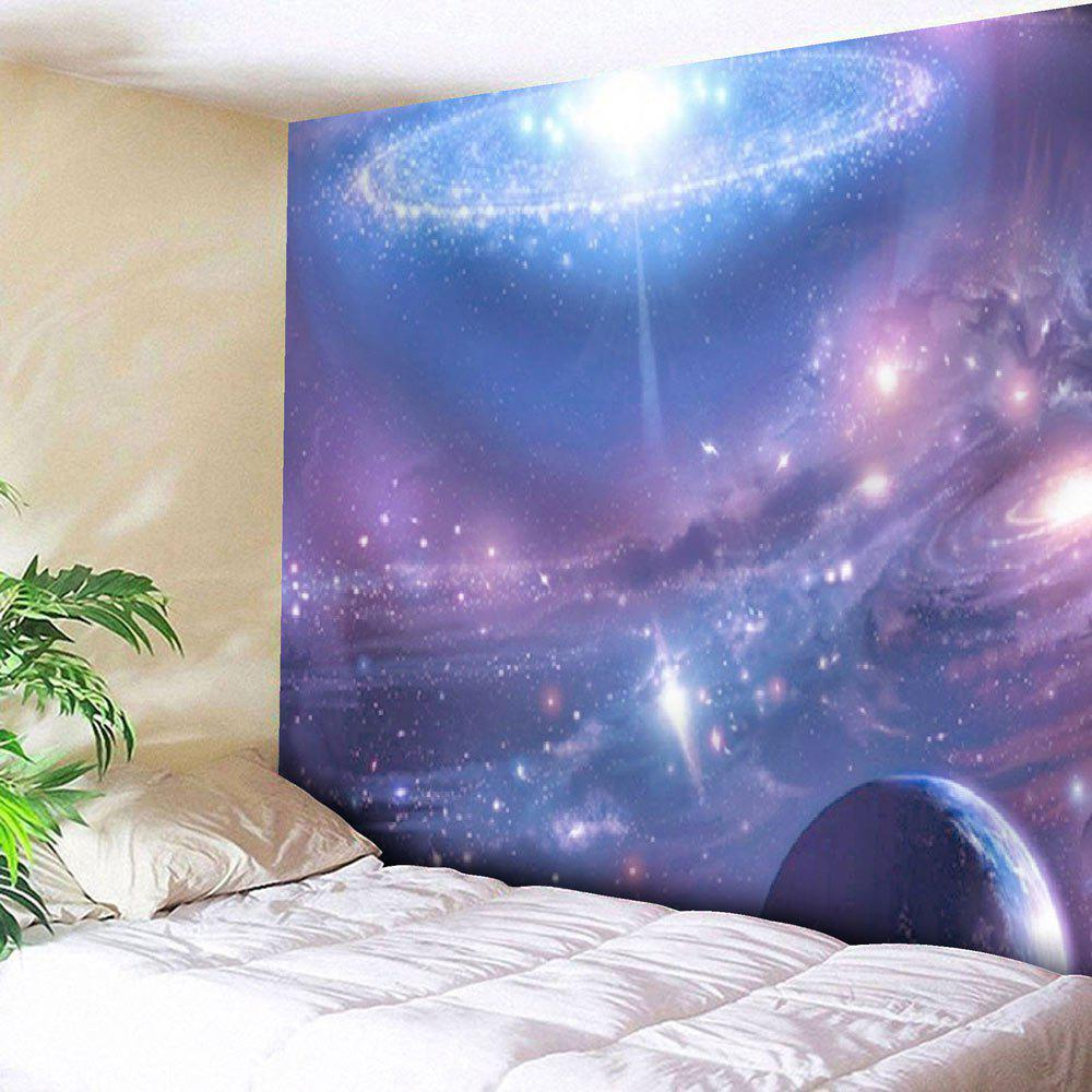 Star Sky Printed Tapestry Microfiber Wall HangingHOME<br><br>Size: W59 INCH * L79 INCH; Color: VIOLET BLUE; Style: Romantic; Material: Nylon,Polyester; Feature: Removable,Washable; Shape/Pattern: Print,Star; Weight: 0.2700kg; Package Contents: 1 x Tapestry;